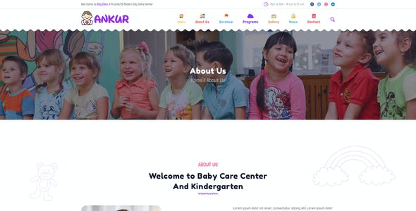 Ankur - Day Care PSD Template