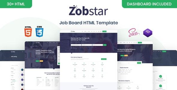 Zobstar - Job Board HTML Template - Business Corporate