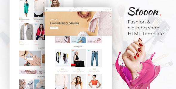 Stooon – Fashion & clothing shop html Template - Fashion Retail