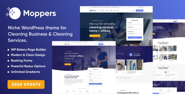 Moppers - Cleaning Company and Services WordPress Theme - Business Corporate