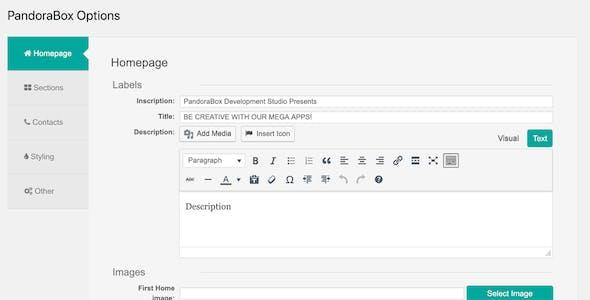 Pandora Box: Onepage WordPress Theme