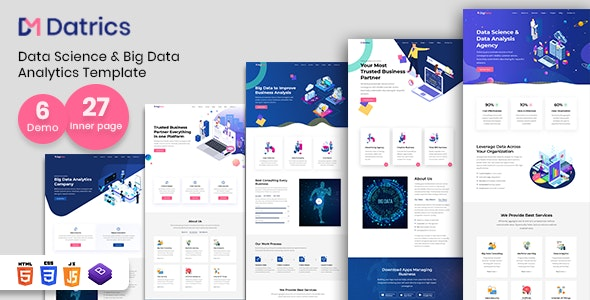 Datrics - Data Science and Big Data Analytics HTML Template - Technology Site Templates