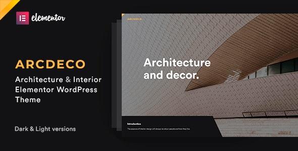 Arcdeco - Architecture & Interior Design Theme - Portfolio Creative