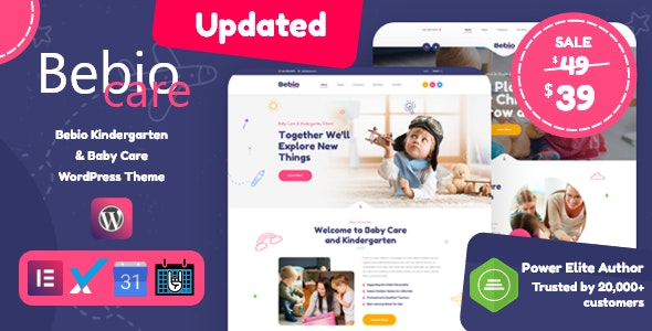 Bebio - Kindergarten & Baby Care WordPress Theme - Children Retail