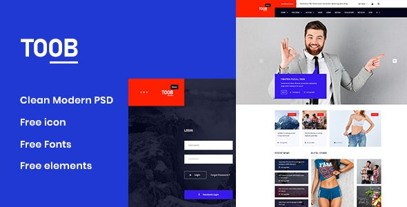 Toob - Personal PSD Template - Corporate PSD Templates