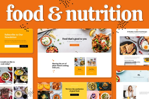 Food & Nutrition Elementor Template Kit - Food & Drink Elementor
