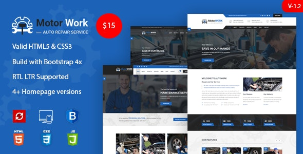Motor Expert || Auto Mechanic & Car Repair HTML Template - Business Corporate