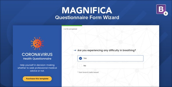Magnifica - Questionnaire Form Wizard - Specialty Pages Site Templates