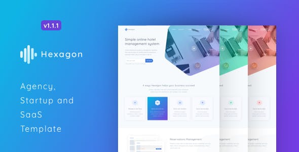 Hexagon - Agency, Startup and SaaS Template