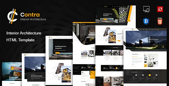 Contra   HTML Template for Architecture, Construction, and Interior Design