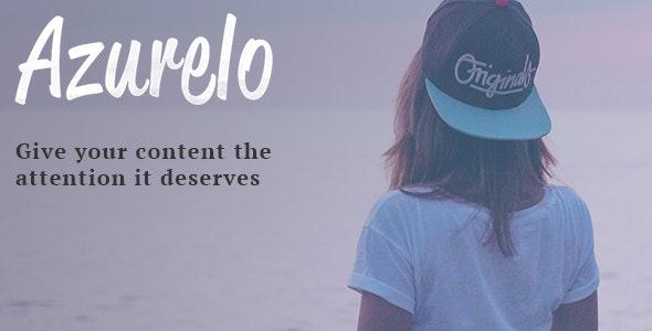 Azurelo, a Responsive Blog Theme - Blog / Magazine WordPress
