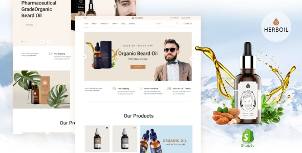 Herboil – Beard Oil Shopify Theme - Health & Beauty Shopify