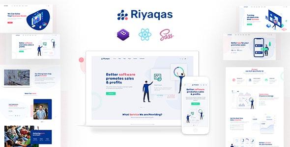 Riyaqas – Saas & Software React JS Template - Software Technology