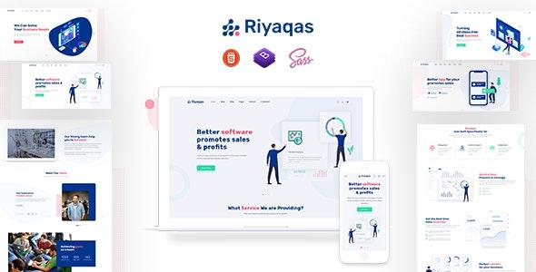 Riyaqas - Saas and Startup HTML Template - Software Technology