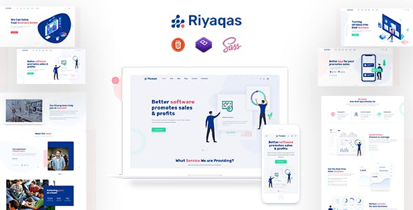 Riyaqas - Saas and Startup HTML Template