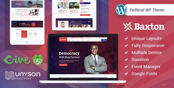 Baxton - Political WordPress Theme - Political Nonprofit