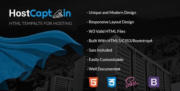 HostCaptain – Hosting and Business HTML Template - Hosting Technology