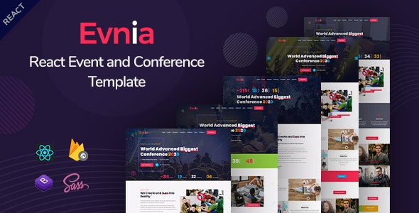 Evnia - React Event Conference & Meetup Template - Events Entertainment