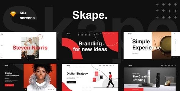 Skape - Creative & Modern Agency Sketch Template - Sketch Templates