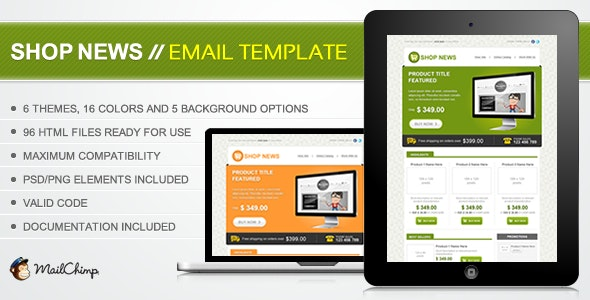 Shop News Email Template - Email Templates Marketing