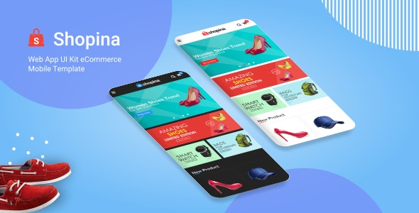 Shopina - Web App UI Kit eCommerce Mobile Template - Mobile Site Templates