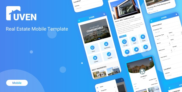 Uven - Real Estate Mobile Template - Mobile Site Templates