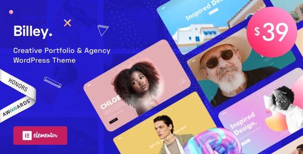 Billey - Creative Portfolio & Agency WordPress Theme - Creative WordPress