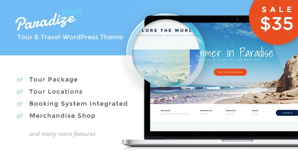 Paradize - WordPress Tour/Travel Theme - Travel Retail