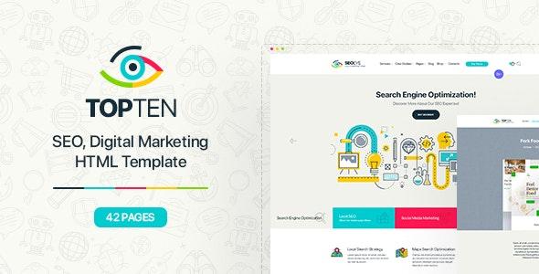 TopTen | Digital SEO Agency HTML5 Template - Marketing Corporate