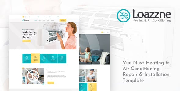 Loazzne - Vue Nuxt Heating & Air Conditioning Services Template