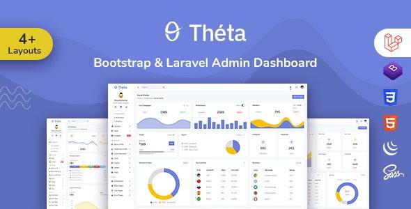 Theta - Bootstrap + Laravel Admin Dashboard Template - Admin Templates Site Templates