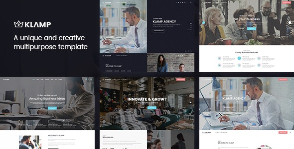 Klamp - Creative Multipurpose HTML Template - Creative Site Templates