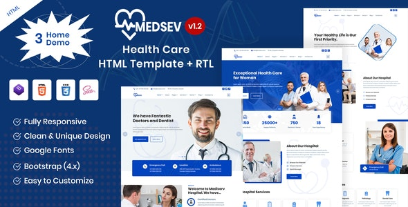 Medsev - Healthcare Clinic & Doctor HTML Template - Health & Beauty Retail