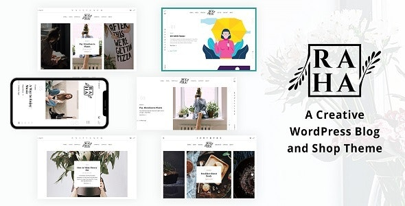 Raha - Creative WordPress Theme - Blog / Magazine WordPress