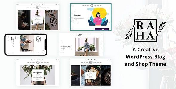 Download Raha - Creative WordPress Theme