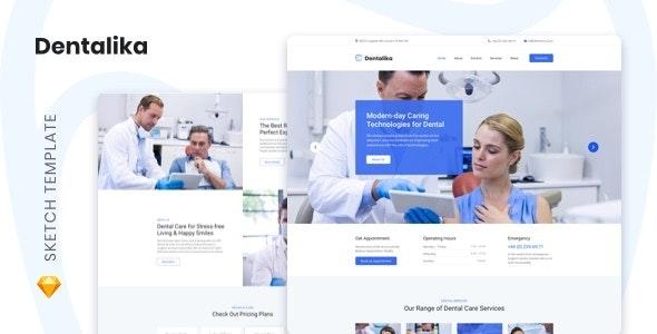 Dentalika — Dental Clinic Sketch Template - Business Corporate
