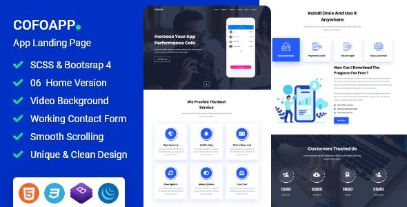 Cofo - App Landing Page - Technology Site Templates