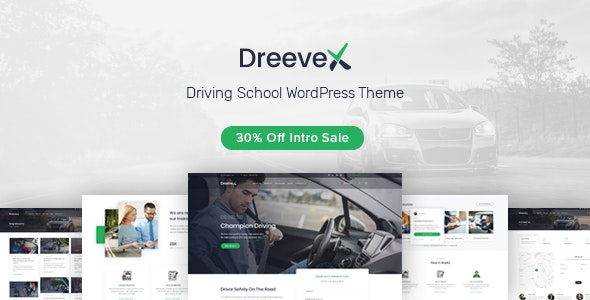 DreeveX – Driving School WordPress Theme - Education WordPress