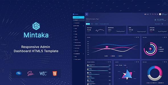 Mintaka - Bootstrap 4 Admin Dashboard Template - Admin Templates Site Templates