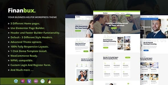 Finanbux - Responsive Business WordPress Theme - Business Corporate