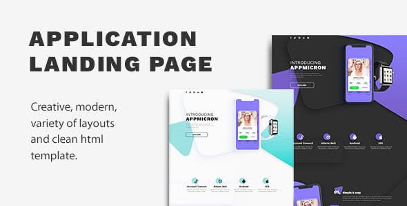 Appmicron - App & Product Landing page