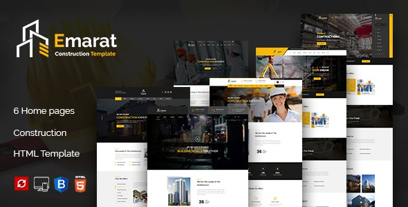 Emarat - Construction and Architecture HTML Template - Business Corporate