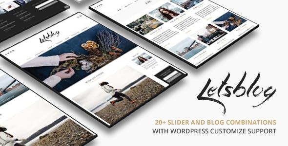 lets blog en çok indirilen wordpress teması