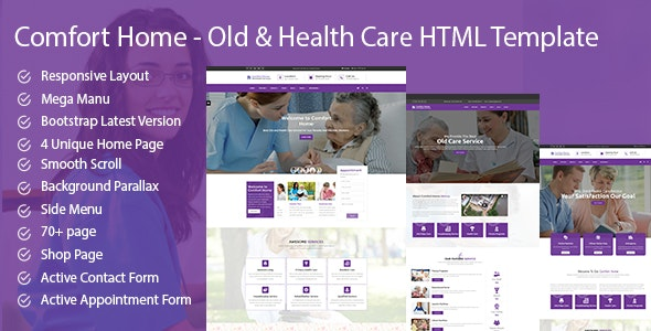 Comfort Home - Old & Health Care HTML Template - Health & Beauty Retail