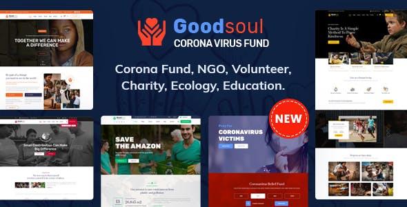 GoodSoul - Coronavirus Fundraising HTML Template