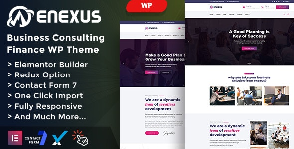 Enexus - Consulting Business Elementor WordPress Theme - Business Corporate
