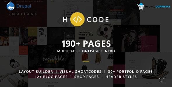 H-code - Multipurpose Commerce Drupal theme - Business Corporate