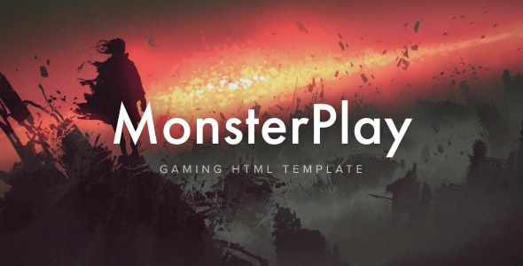 MonsterPlay - eSports and Gaming HTML Template - Entertainment Site Templates