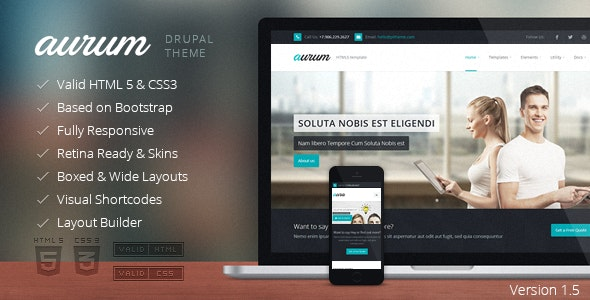 Aurum - Responsive Multipurpose Drupal Theme - Business Corporate