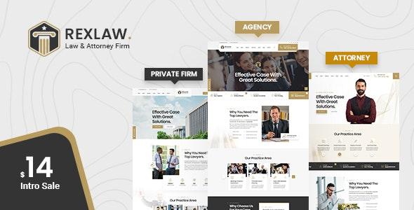 Rexlaw - Law Attorney PSD Template - Business Corporate